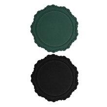 2 шт край с окантовкой блюдо тарелка торт инструменты украшение стола кекс лотки-зеленый и черный