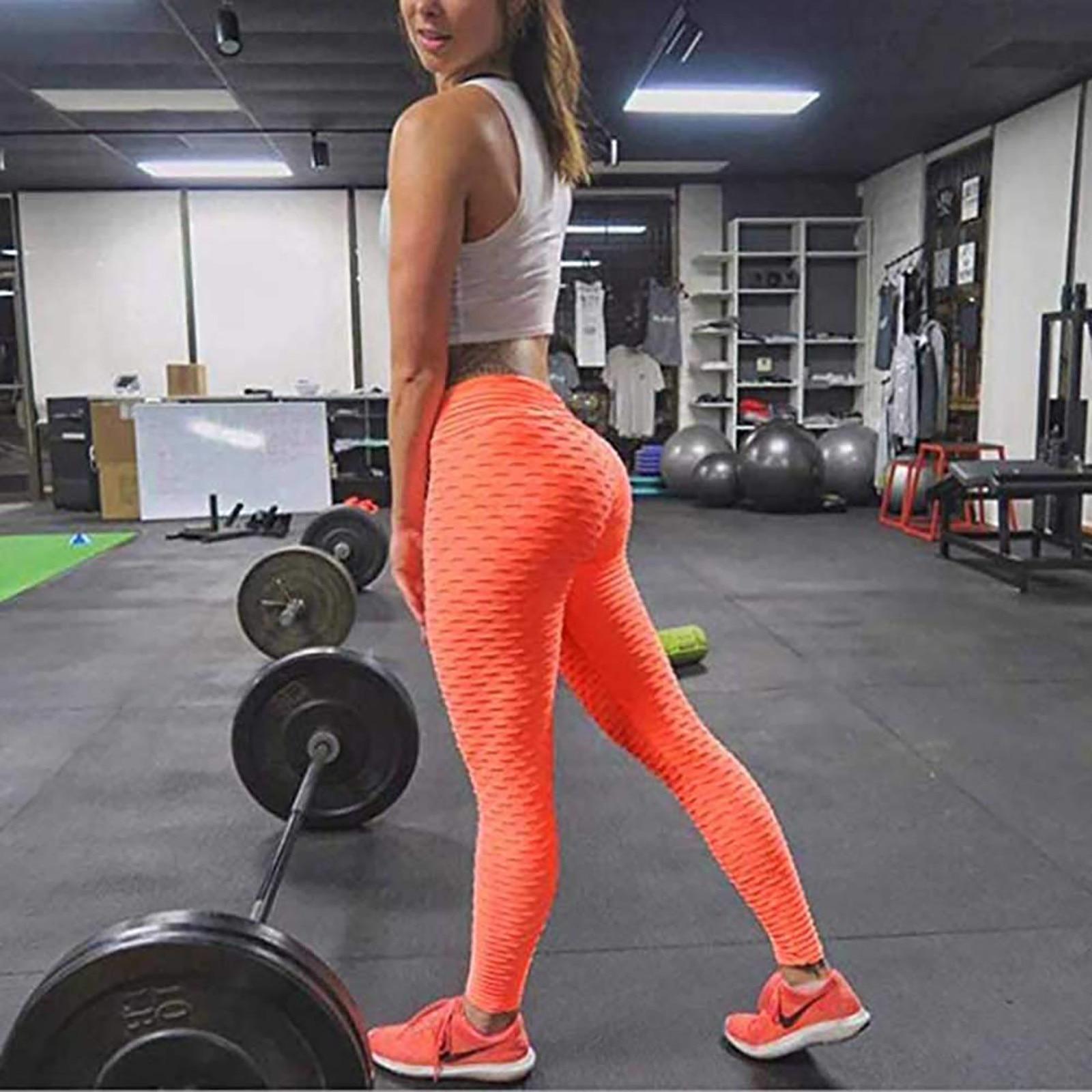 Pantalones de Yoga de cintura alta para mujer, mallas de entrenamiento para...
