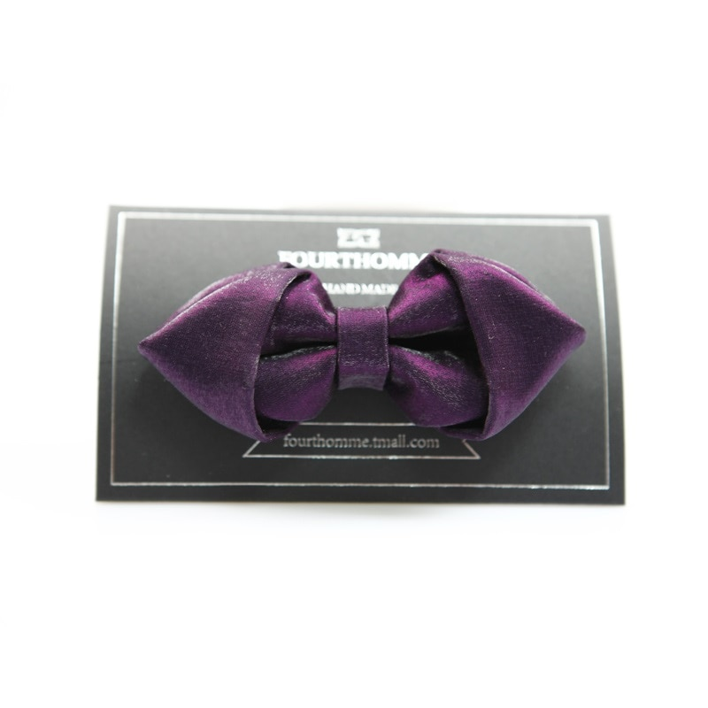 High Quality 2020 New Arrivals Bow Ties for Men Designers Brand Butterfly Bowties Luxury Wedding Bowtie Purple with Gift Box