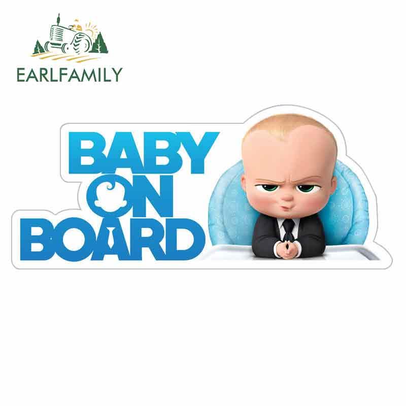 EARLFAMILY 13cm x 5,6 cm für Baby an Bord Cartoon Auto Aufkleber Vinyl JDM Stoßstange Stamm Truck Graphics Windschutzscheibe stoßstange Windows