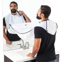 Male Beard Shaving Hair Apron Mirror Hair Cutting Shave Apron Cloak Hair Shaver Holder Stylists Bath