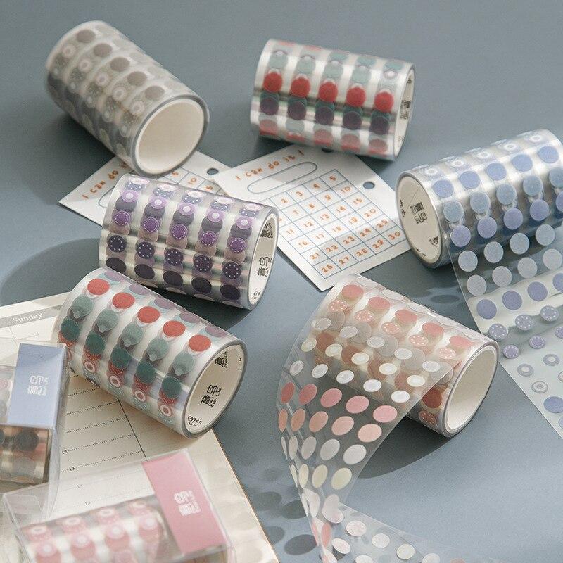 1250 шт./рулон горошек лента Washi круглых наклеек Dot наклейки для Diy Декоративные Дневник планировщик для скрапбукинга фотоальбомы