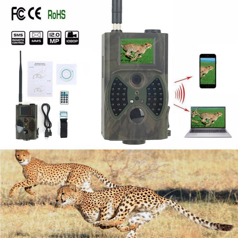 HC300M Hunting Camera GPRS SMS MMS 9V HD HC-300M Digital 940NM MMS GPRS 12M High Quality Infrared Camera Trail Hunting