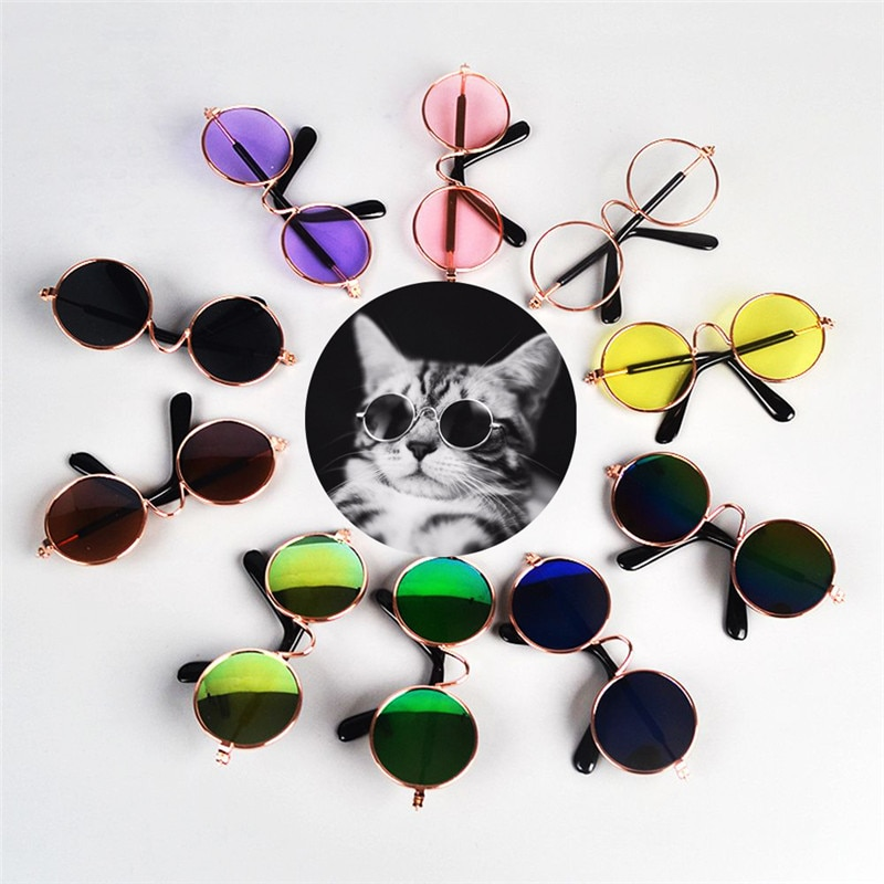 Traumdeutung Small Dogs Sunglasses Cats Glasses Products For Pet Supplies Photos Props Accessories gafas para perro