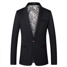 Mens Blazers Spring Autumn Men's Suit Jacket Coat Fashion Casual Suit Business Jacket Wedding Groomsmen Clothes Male Outerwear