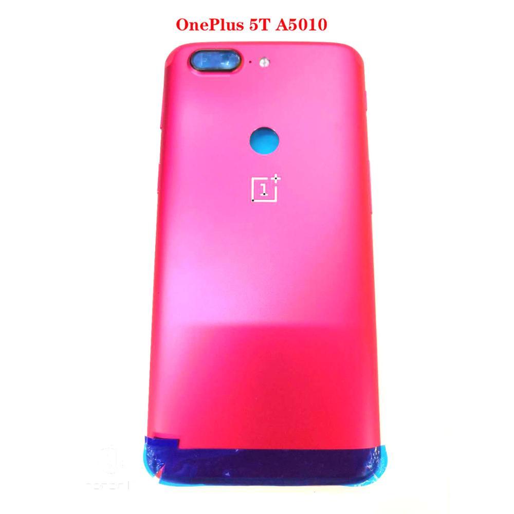 Original nuevo para Oneplus 5T A5010 batería carcasa trasera + bandeja de tarjeta Sim + botón de bloqueo de volumen de pantalla