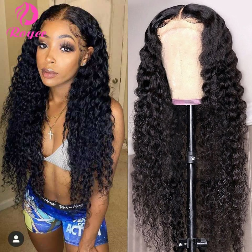 HD Transparent Lace Front Human Hair Wigs 13x6 180% Brazilian Water Wave Lace Frontal Wig With Baby Hair Pre Plucked Remy Hair