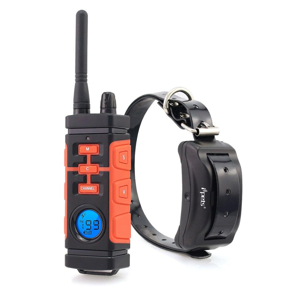 Ipets ver en PET616 800M recargable impermeable y vibración Collar de entrenamiento eléctrico para perro/Collar/perro eléctrico Collar de corteza
