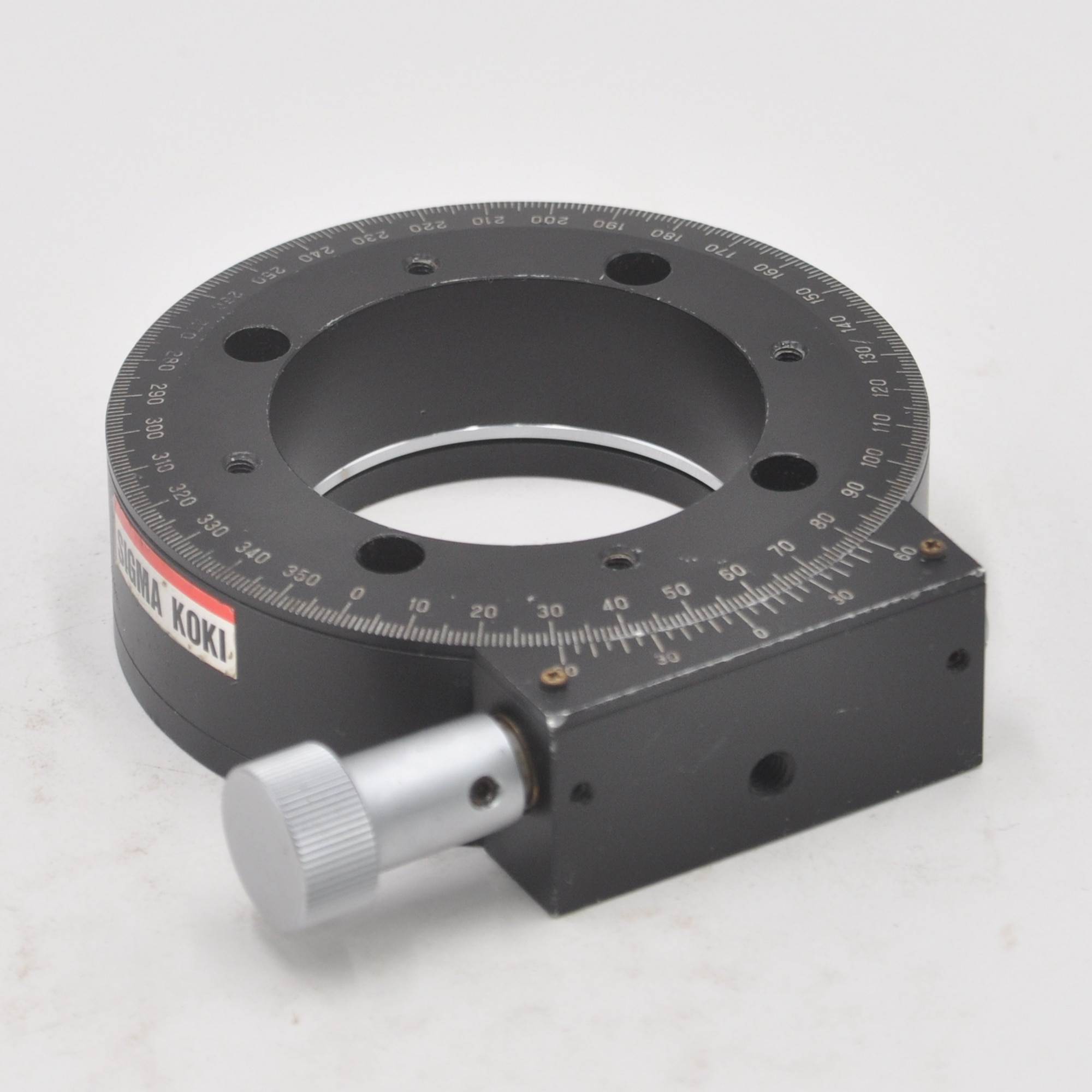 Sigma manual rotary slide LR100 rotary tester stage R axis adjustment high precision micrometer used