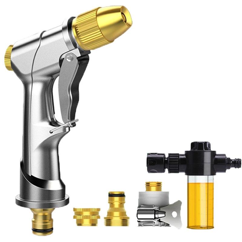 Multifunctional Garden Watering Spray Gun Household High Pressure Sprinkler Foam Car Wash Nozzle Water Jet Gun Garden Tools