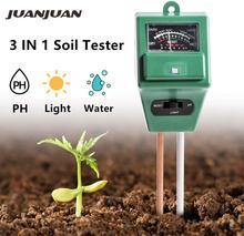 10 pçs/lote 3 em 1 flores solo ph tester iluminância umidade analisador medidor de luz ferramenta planta com 2 sondas 20% de desconto