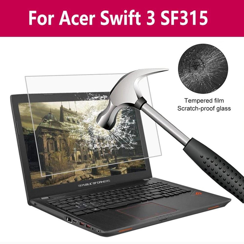 Película protectora de pantalla de vidrio templado para portátil a prueba de rasguños para Acer Swift 3 Sf315