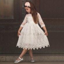 Robe de nouvel an pour filles   En coton mélange de dentelle, tenue de princesse, Costume de fête danniversaire, à la mode, pour enfants en bas âge