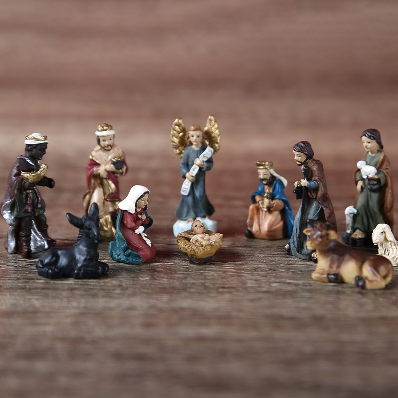Figuras de Belen de navidad, esculturas et, juego de nanger de 3cm,...