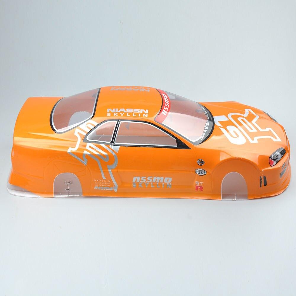 Carcasa de cuerpo de PVC y anillo trasero RC 190mm 020O para HSP HPI 1/10 en coche de deriva de carretera