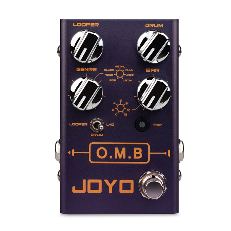 JOYO R-06 O.M.B LOOPER Drum Mode Guitar Effects Pedal Auto-align Count-In Loop Guitar Effects Tap Tempo Function 40 mins Looper
