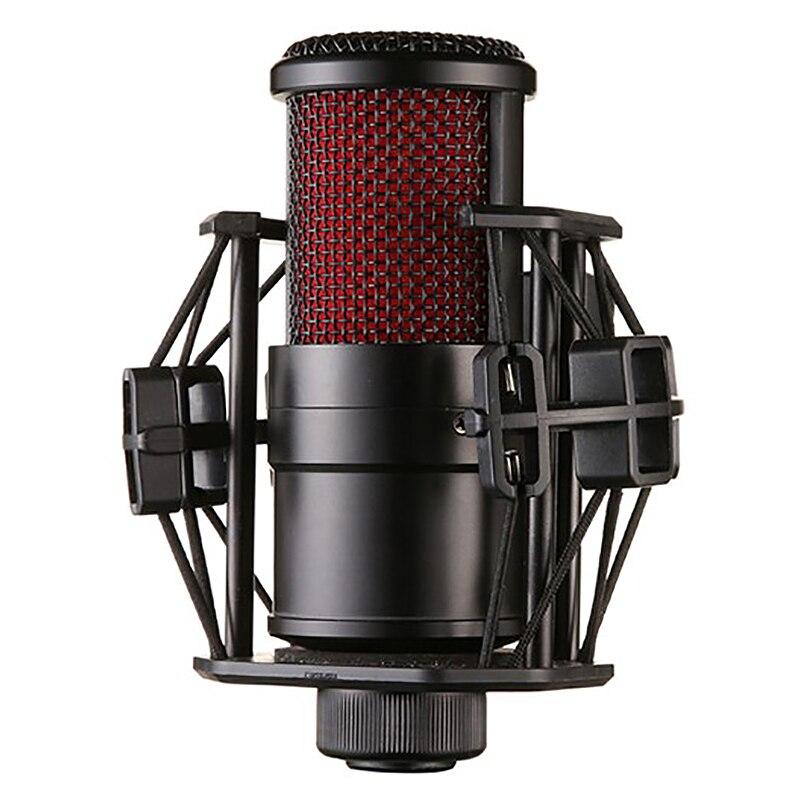 Microfone com o Cabo à Prova de Choque Transmissão ao Vivo Clipe Microfone Condensador V500 Kit