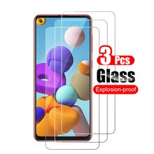 3pcs Tempered Glass for Samsung Galaxy A21 A21s Screen Protector on Samsung A21 SM-A217F A217 Protec