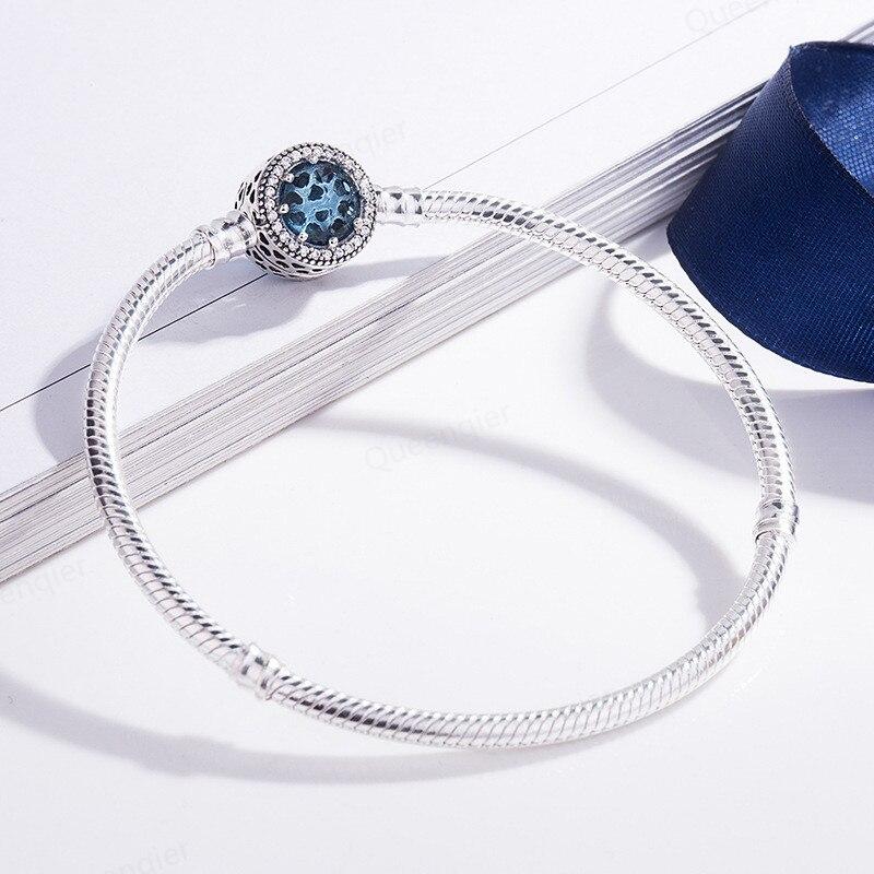 Venda quente charme original 925 esterlina pulseira jóias de luxo 17-23 cm para wome