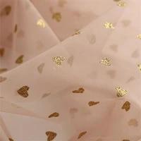 mesh fabric love bronzing glitter lace fabric wedding veil dress skirt background cloth curtain handmade diy sewing accessories