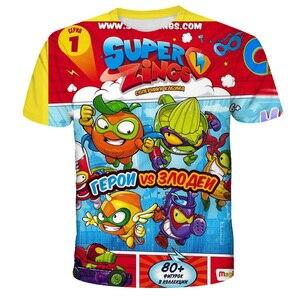 Super Zings T Shirt 4 5 6 7 8 9 10 11 12 13 14 Years Baby Boys Girls T-shirt Kids Tshirt Children Clothes Kid Girl Tops Tees