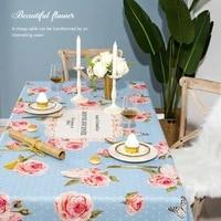 fresh flowers ins cotton hemp table cloth small fresh rectangular coffee tablecloth desk cloth simple round tablecloth cloth