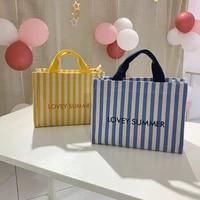 korean mahen j small crowd same stripe small horizontal one shoulder messenger handbag