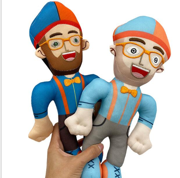 32cm Blippi Plush Toy Stuffed Toys doll cosplay hat/Balloons  Educational Kids gift Children Present
