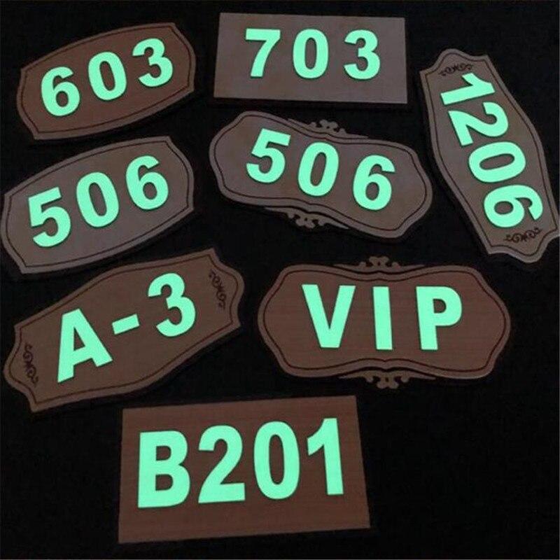 Números de dirección de la casa, placa luminosa de número de puerta de acrílico iluminado, letrero luminoso para apartamento, Hotel, placa de dirección para el hogar, signo personalizado