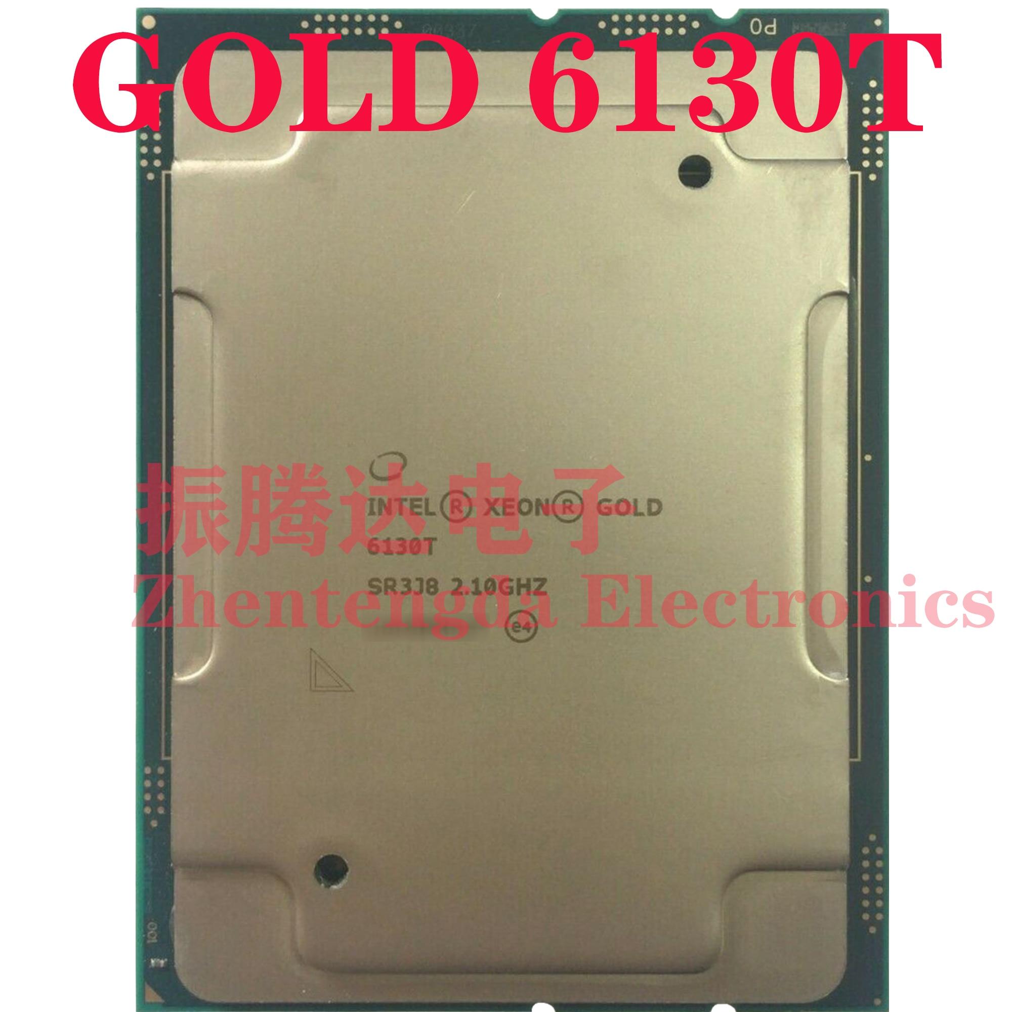 Intel Xeon Gold 6130T CPU 2.1GHz L3-22MB 16 Core 32 Threads LGA-3647 Gold 6130T CPU Processor