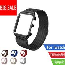 CARLYWET noir Milan bracelet pour Apple iphone bracelet de montre 38 42 mm en acier inoxydable métal antichoc magnétique pour Iwatch