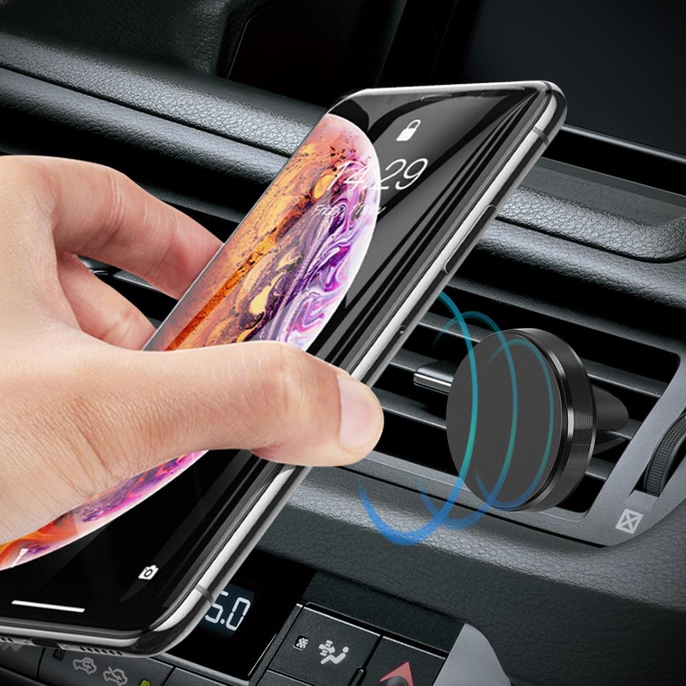 Suporte do telefone do carro magnético gps titular para daewoo nexo matiz lanos nubira espero sens para renault duster arkana