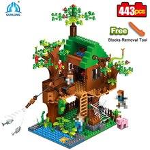De Jungle Tree House Mijn Wereld Bouwstenen Bos Kits Bricks Speelgoed Voor Kids Gift 21125 Compatibel Alle Merken
