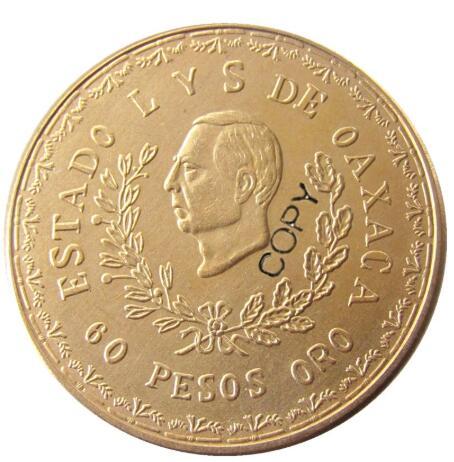 1916 mexiko 60 PEOSO Gold Überzogen Kopieren Münze