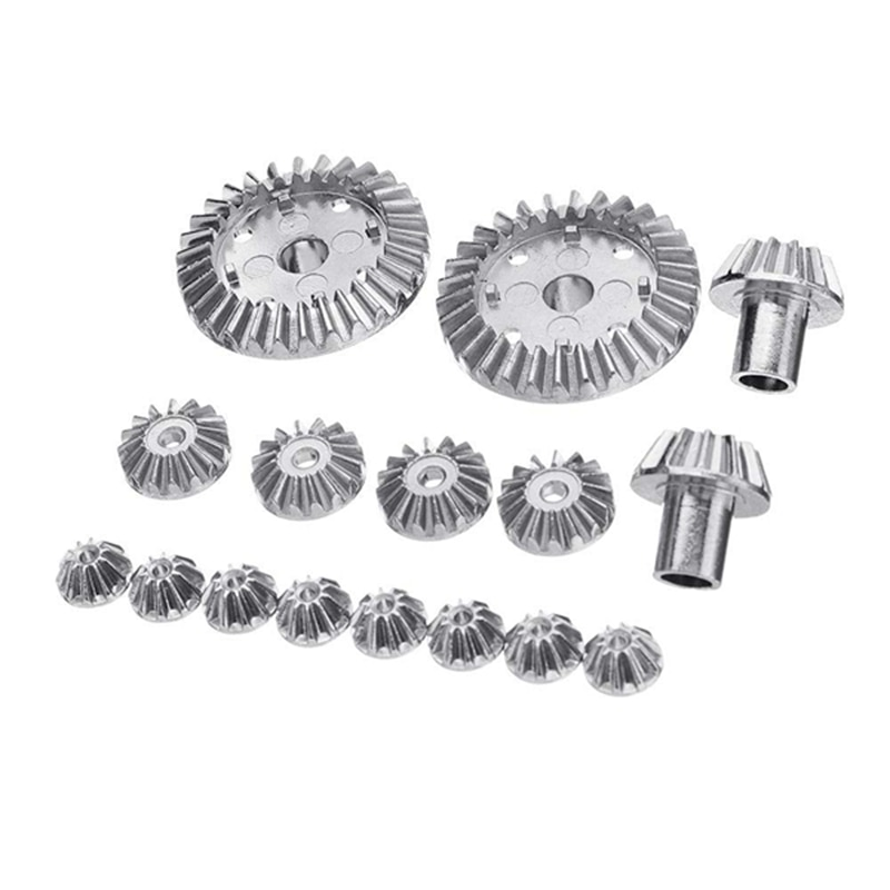Wltoys 144001 upgrade parts wltoys 144001 upgrade parts 16PCS Upgrade Metal Gear for Wltoys 144001 12428 12423 Rc Car Parts enlarge