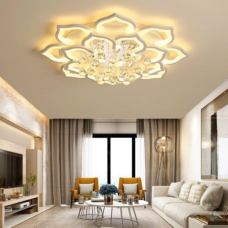 Luces de techo de cristal para sala de estar, lámparas de habitación,...