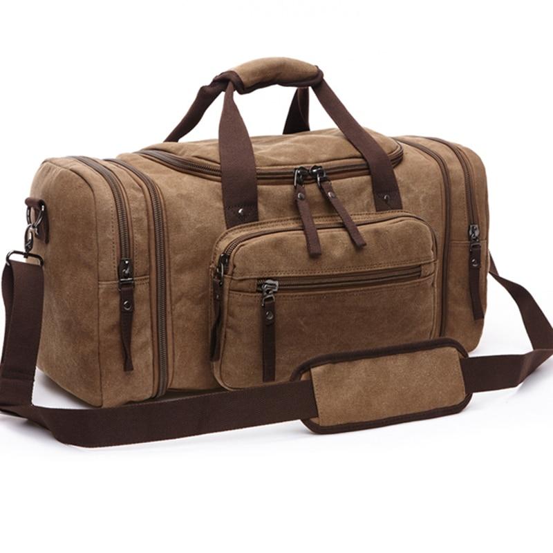 Saco de masculino grande capacidad bagagem viagem de lona sacos de viagem...