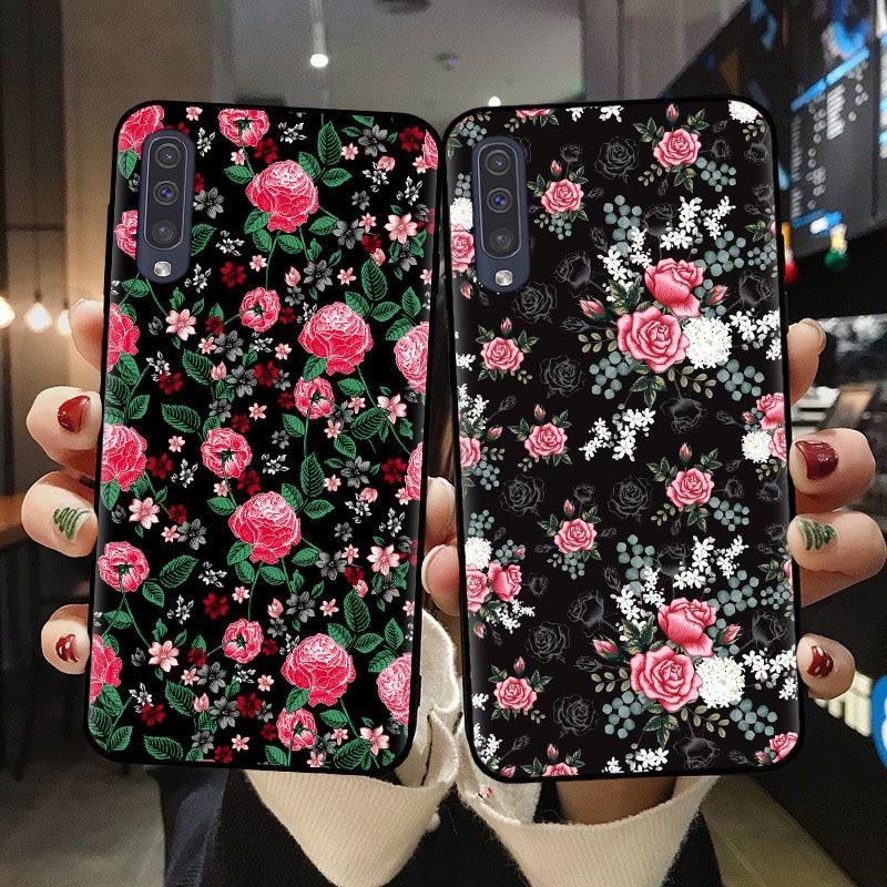Funda de teléfono Floral Tropical botánica, funda de TPU suave para Samsung A10 A20 A30 A40 A50 A70 A51 A71 A6 A7 A8 A9 Plus 2018 Daisy