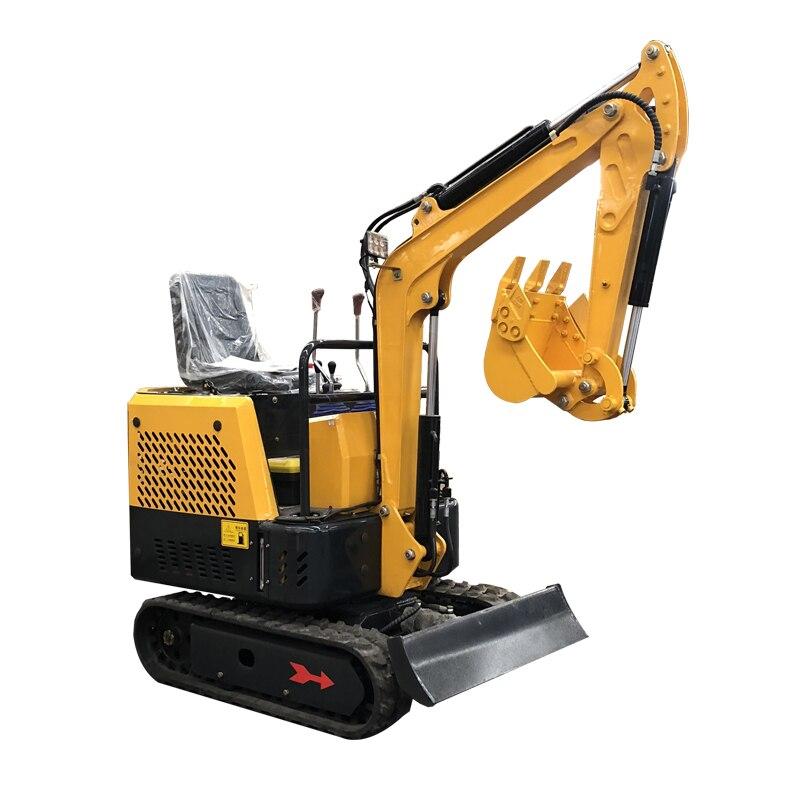 HC-10 דיזל קטן חופר מטע חקלאי אדמה חופר ריסוק ביתי תכליתי קטן חופר מכונה וו