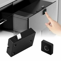 Keyless Fingerprint Cabinet Lock Smart Biometric Electric Lock Drawer Anti-theft Office Drawer File Cabinet Door Lock