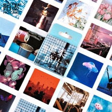 46pcs/pack Autumn Natural Scenery Decoration Sticker Diy Ablum Diary Scrapbooking Label Sticker Stationery