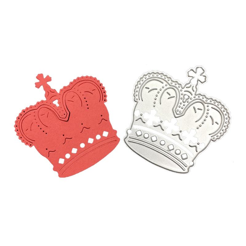 Troqueles de corte de metal artesanal Plantilla de corte King crown álbum de recortes molde artesanal para corte de papel plantillas para perforar con cuchillas