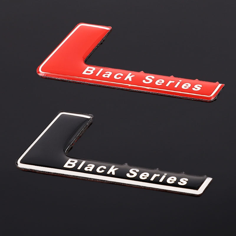 Car Sticker Emblem Badge Decals Black Series Logo Sticker for Mercedes SLS AMG W204 W203 W207 W211 W219 C63 C63 Auto Styling