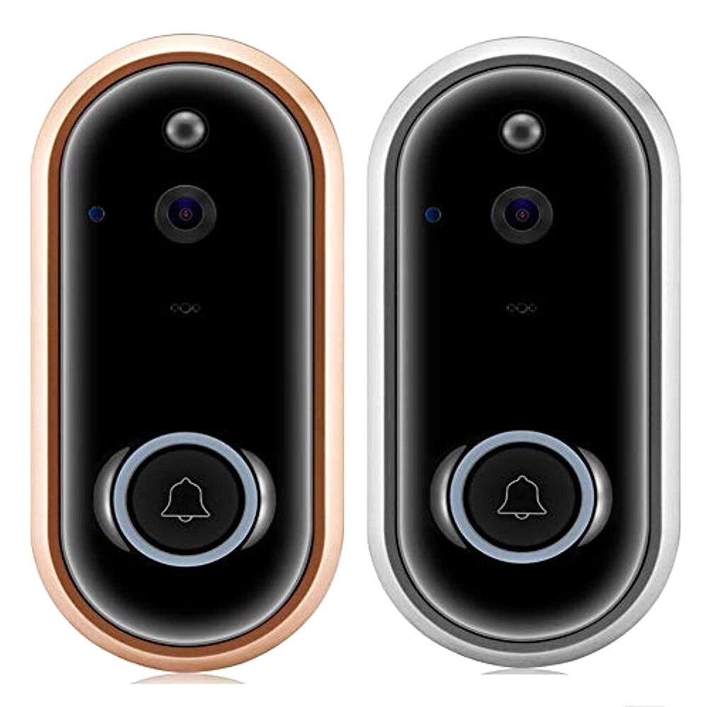 Timbre de puerta inteligente 1080P/720P, timbre con WiFi, timbre de puerta, cámara de vídeo, intercomunicación nocturna, seguridad del hogar, compatible con tarjeta TF de 32GB