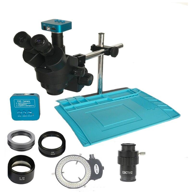 3.5X-90X microscopio estéreo Trinocular 38MP HDMI USB Cámara microscopia 2.0X 0.5X barlow lente joyería reparación PCB de Teléfono Equipo de colchoneta