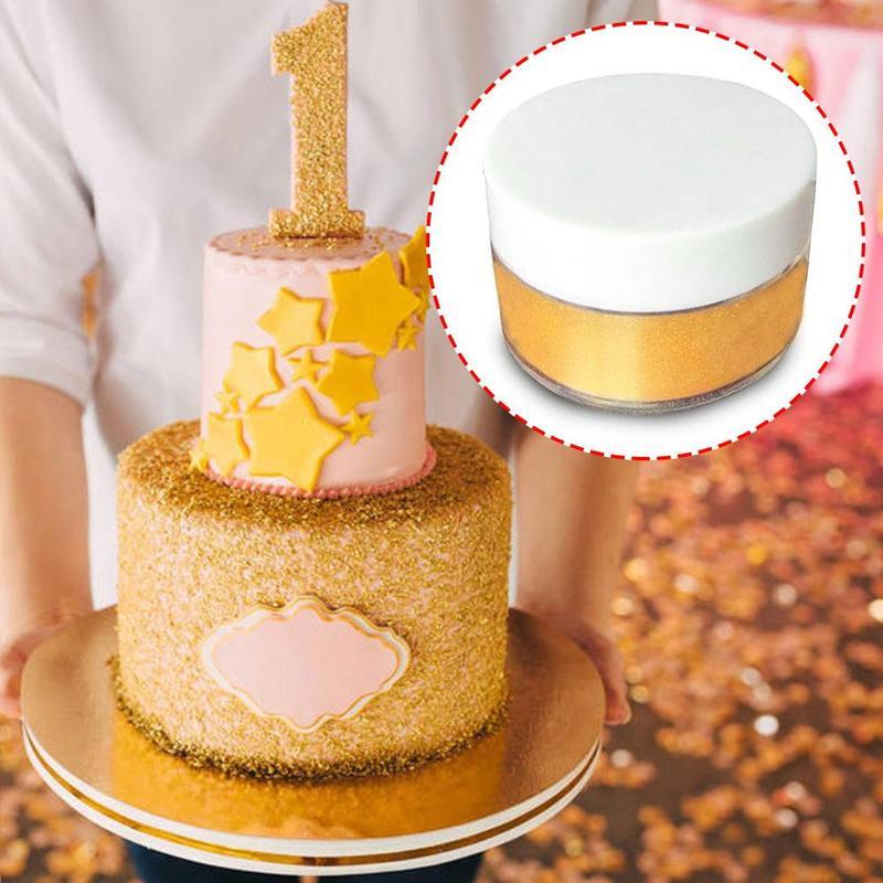 5g comestible Glitter oro plata polvo para decorar alimentos pastel galleta fuente para hornear pastel decoración oro/plata