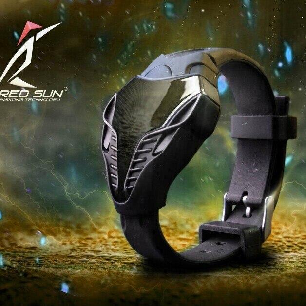 Фото - Силиконовые треугольные спортивные светодиодные цифровые часы, мужские часы, мужские часы, модные мужские крутые часы, мужские часы, часы часы