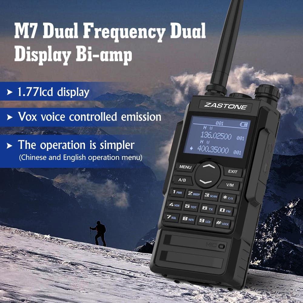 M7 dual band 5W walkie talkie 136-174 400-480mhz 250 channels 2600mah battery hf transceiver ham radio enlarge