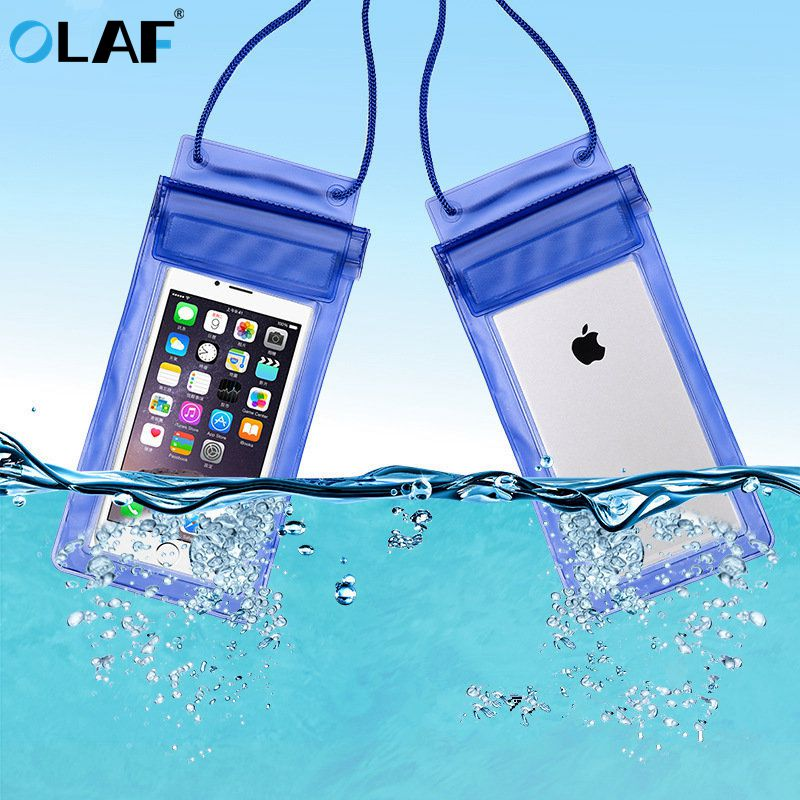 OLAF Universal Waterproof Case For iPhone X XS MAX 8 7 Cover Pouch Bag Cases Coque Water proof Phone
