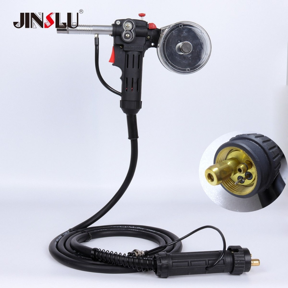 16Ft 5M Aluminum Welder Use MIG MAG Welding Torch Spool Gun NBC-200 200A 24V DC Motor With Euro Connection